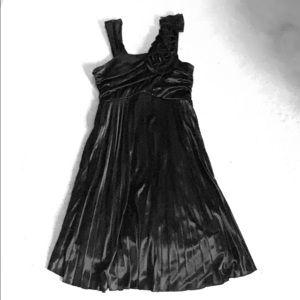 Kids black ruffled dress